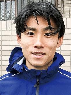 昨年取材時の松枝選手(=提供写真)