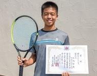 全中テニス選手権で3位