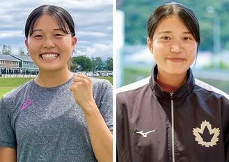 三段跳の姉・小川あやめさん(右)とリレーの妹・ひかりさん