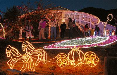 クリスマスまで点灯