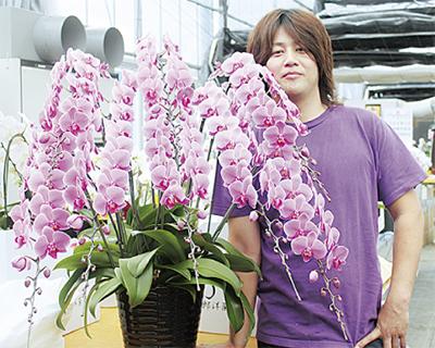 県花き展覧会 田村さんが入賞