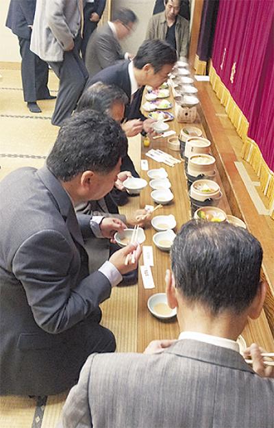 中川温泉旅館組合が逸品料理を開発