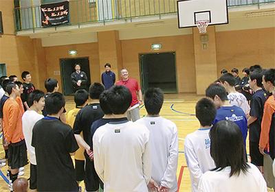 米国のバスケ技術を伝授