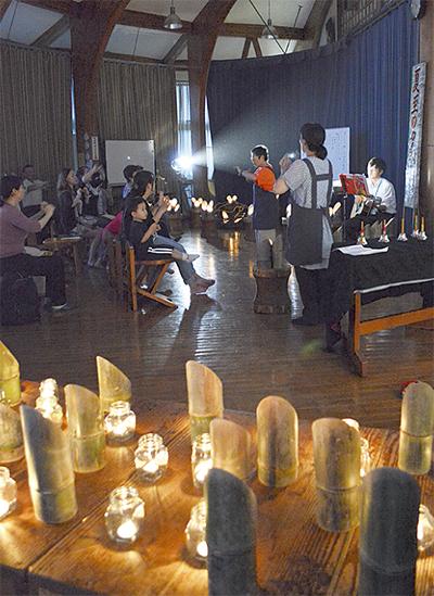 竹灯篭で「夏至の夕べ」