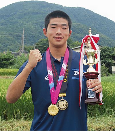 陸上アジアユースで優勝