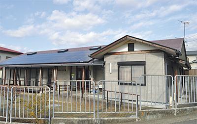 自治会館に太陽光