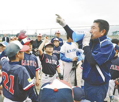 小学生に野球指導