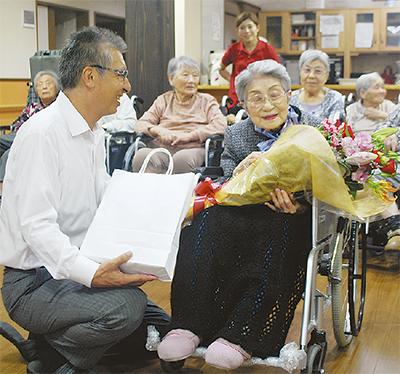 最高齢104歳をお祝い