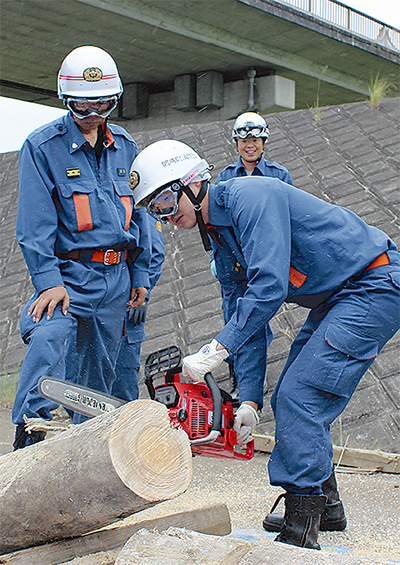 熊本を教訓に救助訓練
