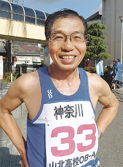 70歳選手が快走