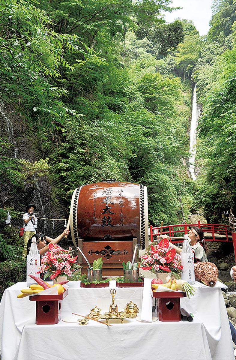 涼風スポット洒水の滝開き