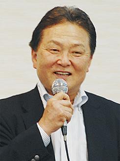 あいさつをする和田部会長