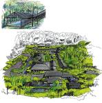 「里山」「湯治村」をコンセプトにした施設も