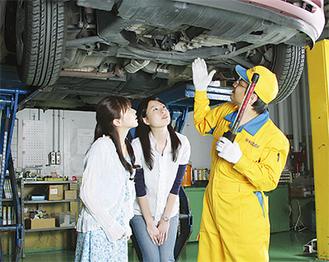 車の状態を自分の目で確認する立会い車検