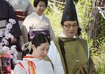政子役の淳子夫人と斉藤市長
