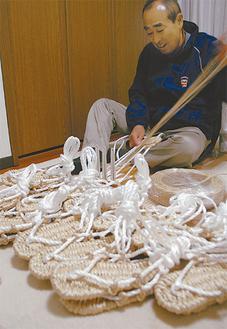 1時間で1人分を編み上げる