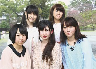(後列左から)中島愛さん、鳴海はれさん、(前列左から)美原ゆいさん、可愛紗彩さん、大川玲奈さん