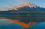 山中湖での富士山