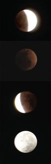 2011年真鶴で撮影した月食
