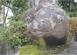 幼少期に登った石像(常泉寺)