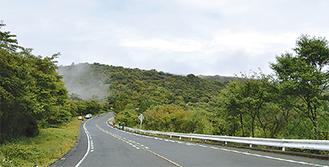ターンパイクから見た白銀山方面