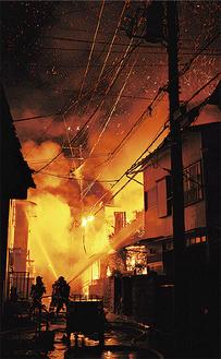 2月15日の小田原市城山の火災