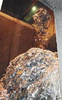 箱根の焼却施設の内部