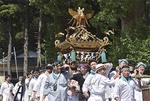 五郎神社から出発する神輿
