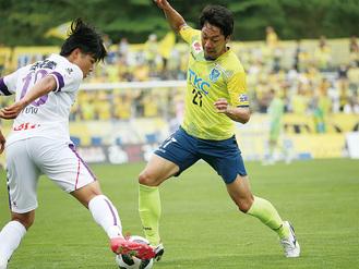 5月3日の対京都戦に出場した久富さん ©TOCHIGI SC