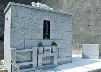 昨年秋に完成した永代供養墓