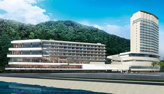 計画段階の外観イメージ 提供:竹中工務店