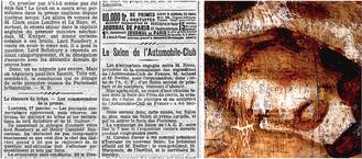 左:『ル・ジュルナル』紙(1902年1月18日号、3頁) Source gallica.bnf.fr / BnF右:赤外線ハイパースペクトル擬似色彩による新聞紙の画像(反転画像)© John Delaney, National Gallery of Art, Washington