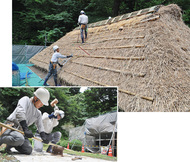 公開屋根葺き替え