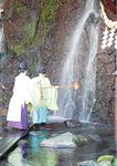 玉簾の瀧で取り水の儀