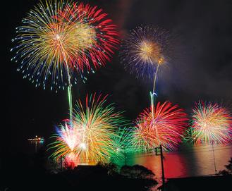 27日湯河原で海上花火大会
