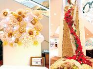 ダイナウエスト花の作品展示