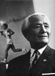 渋谷先生と東京オリンピックのポスター