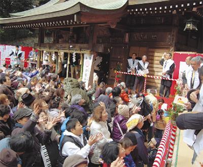 五所神社で節分祭