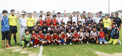 サッカーで日韓交流