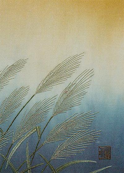 足柄刺繍で秋の草花展