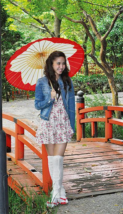 タイの歌姫 足湯に笑顔
