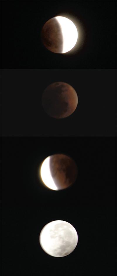 澄んだ夜空に  月食くっきり
