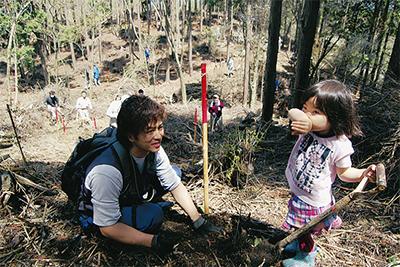 畑引山に800本植樹