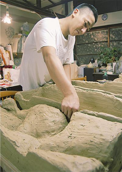 練ってます「陶器製の宮ノ下」