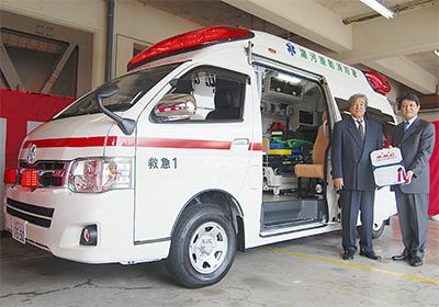 コーヒーのM.M.C 救急車贈る