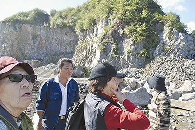 採石場も観光スポットに