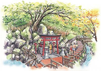 「縁むすび風呂」「箱根温泉神社」