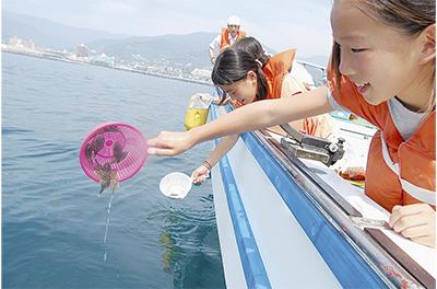 ヒラメ5千匹水底へ