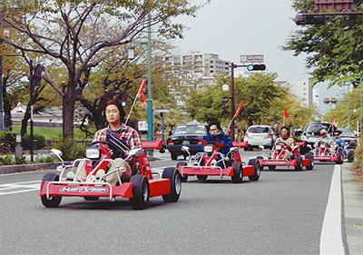 カートで箱根観光