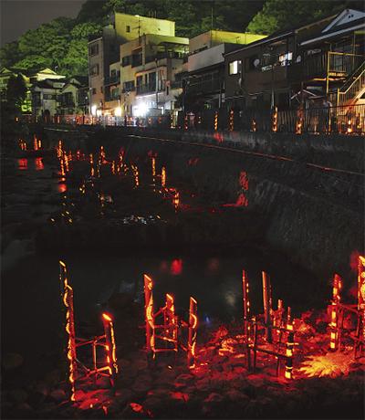 湯河原温泉で灯りの祭典